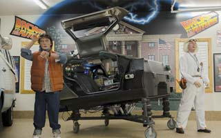 Back to the Future DeLorean stage prop restoration