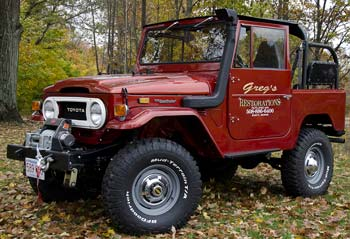 Land Cruiser Restoration >> Gregs Restorations Toyota Fj40 Land Cruiser Restoration